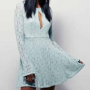 NEW Free People Witch Fit Lace Dress Long Sleeve